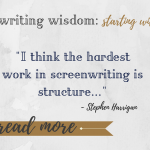 Weekly Writing Wisdom: Starting with Structure