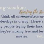 Weekly Writing Wisdom: Sporting the Screenplay