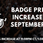 Badge Prices Increase