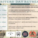 Writers' Day Retreat: Write, Edit, Retreat, Repeat